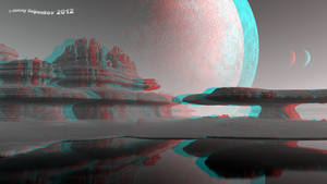 Planet 'Sandy rocks' Anaglyph 3D Stereoscopy