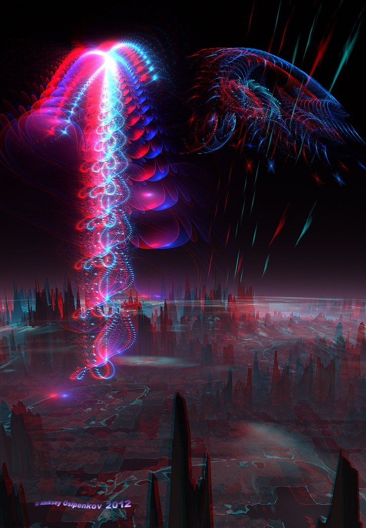 Another form of life Anaglyph 3D Stereoscopy by Osipenkov