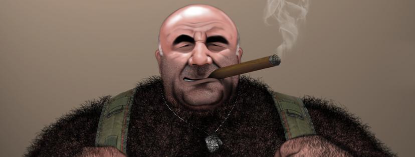 Mr. Recio and his Cohiba by brutebysimon