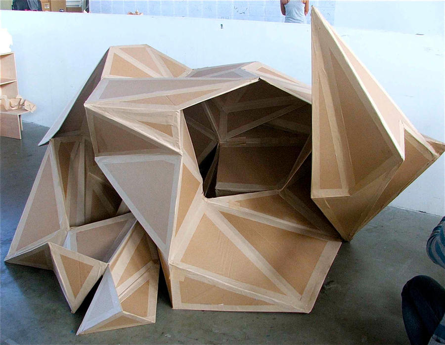 Cardboard model by daphneearielle on deviantart for Raumgestaltung und design