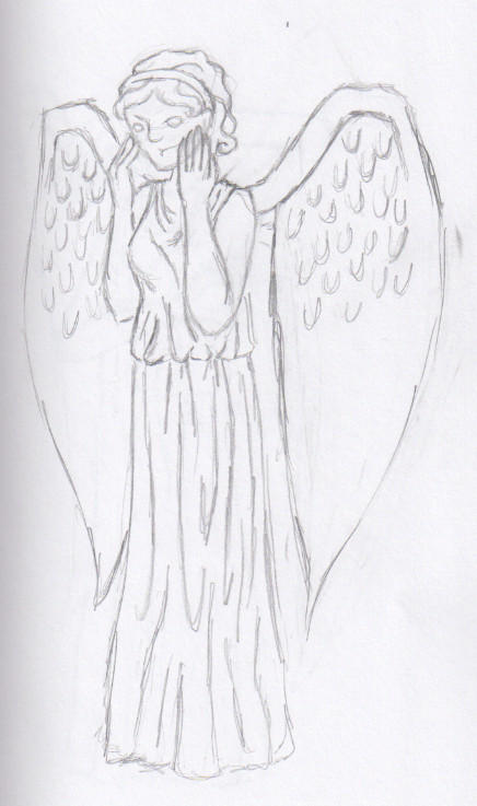 Weeping Angel Sketch 1 by SakoAkarui on DeviantArt