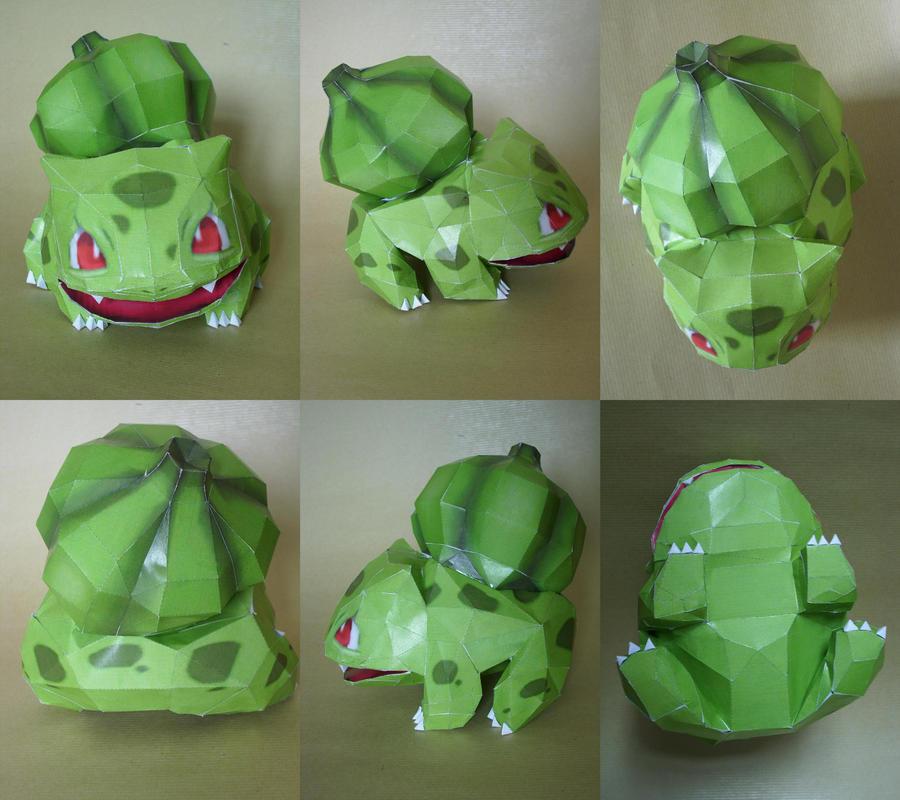 Shiny Bulbasaur Papercraft By Master Kankuro