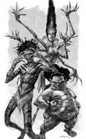 Fighting Fus by andyparkart