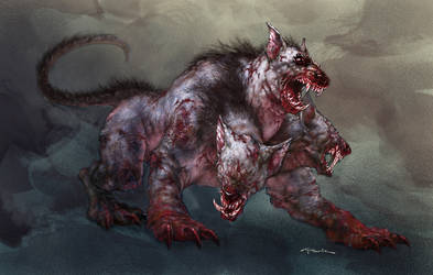 Mole Cerberus by andyparkart
