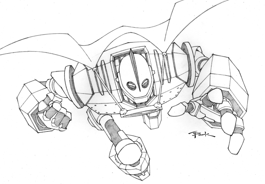 coloring pages iron giant boy - photo#8