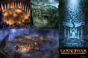 God of War PSP Concepts by andyparkart