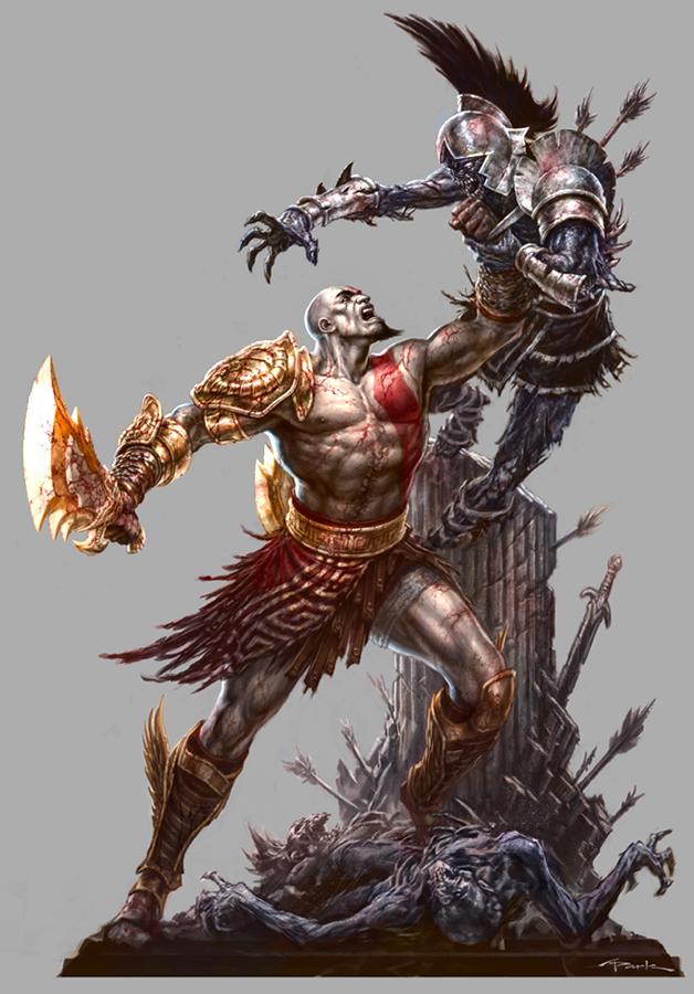 God Of War Iii Psm3 Artwork By Andyparkart On Deviantart