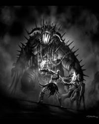 God of War III-Hades Battle02 by andyparkart