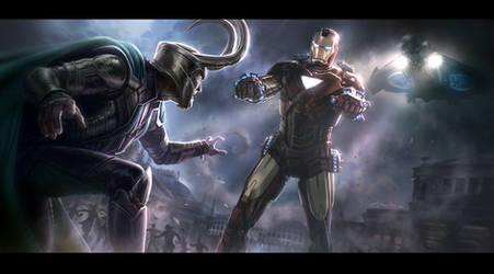 THE AVENGERS- Iron Man vs. Loki Key Frame