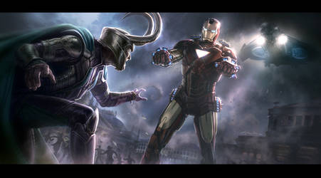 THE AVENGERS- Iron Man vs. Loki Key Frame