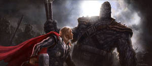 Thor: The Dark World- Thor vs. Kronan Keyframe by andyparkart