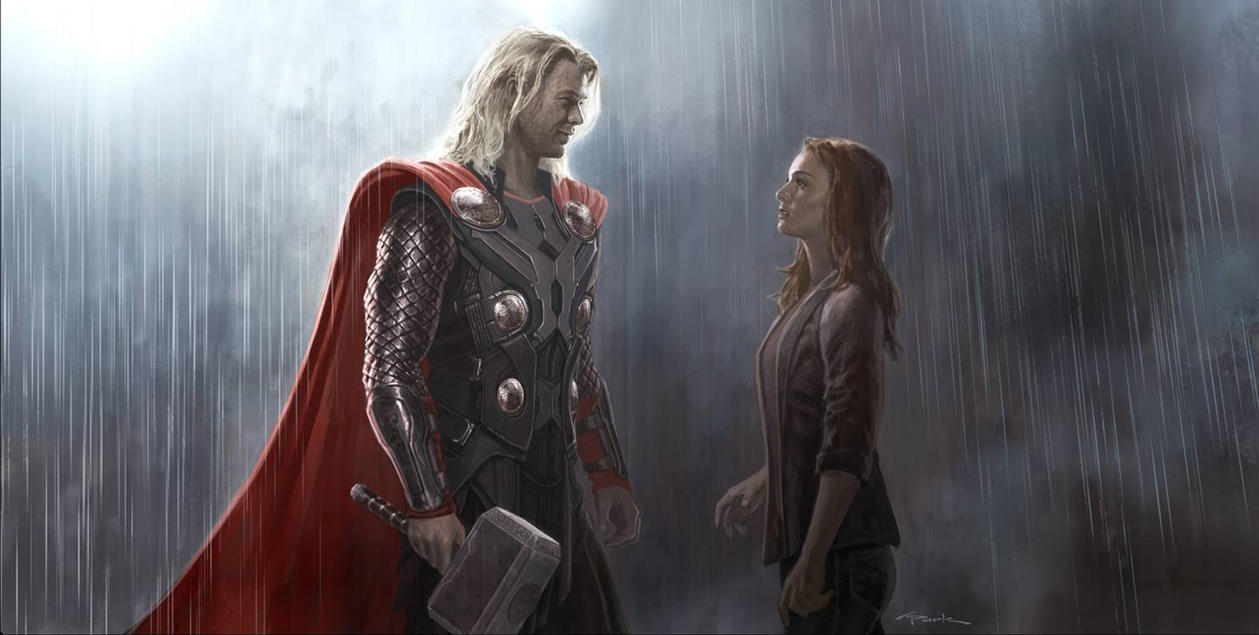 Thor: The Dark World- Thor and Jane Keyframe by andyparkart