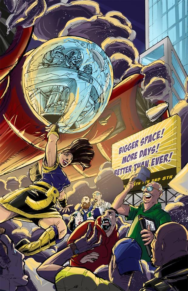 2015 Rhode Island Comic Con Poster Art by IanNichols