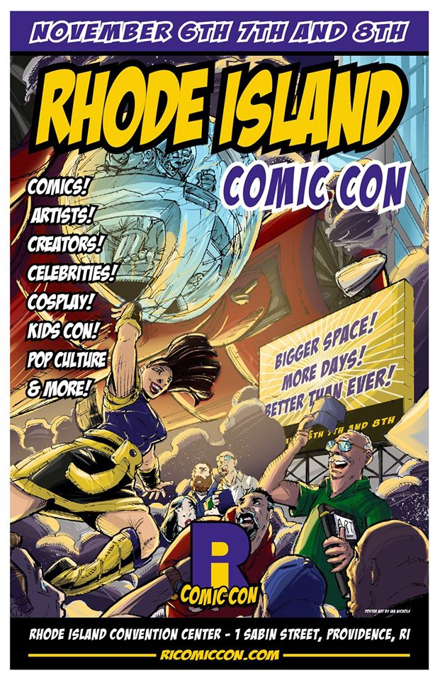 2015 Rhode Island Comic Con Poster Art - LETTERED by IanNichols