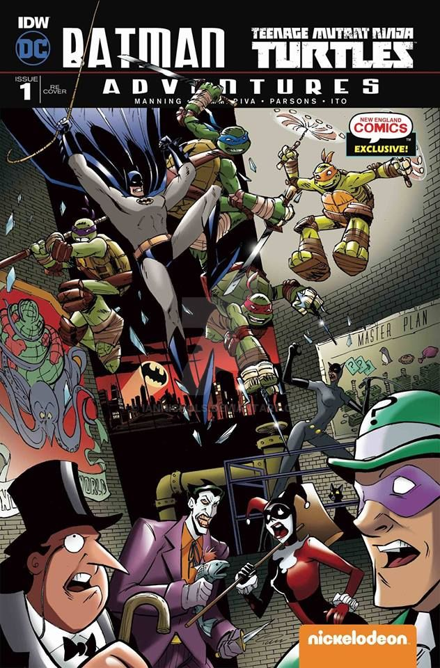 Batman/TMNT Adventures #1 NEC Exclusive Cover by IanNichols