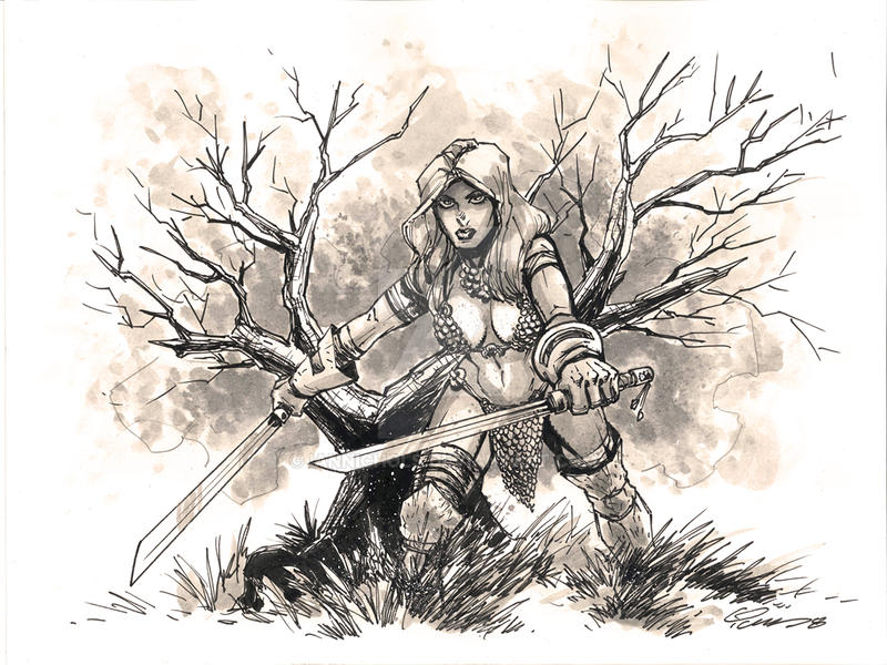 Red Sonja Commission by IanNichols