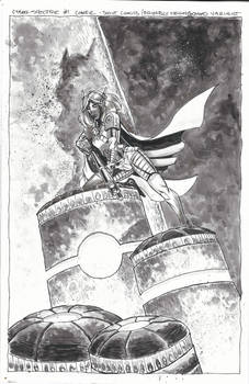 Cyber Spectre #1 Cover Ink Art