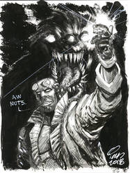 Hellboy and Monster