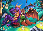 Spyro and Elora.