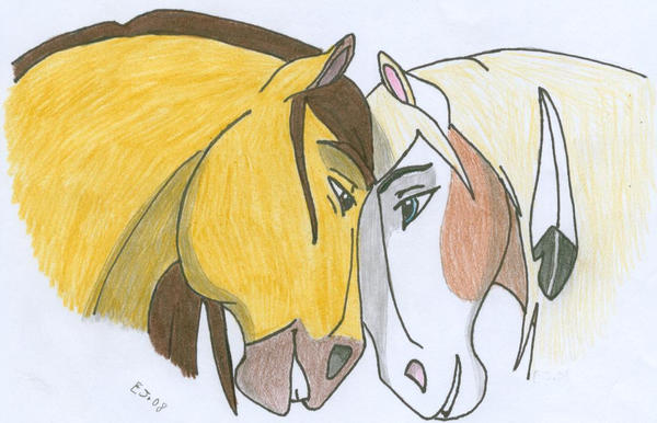 The gallery for easy horse drawings running - Comment dessiner spirit ...