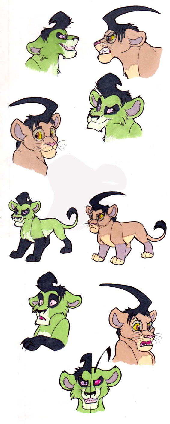 Zim and Dib Lion Doodles by WindWo1f