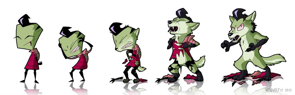 Wolf Transformation Sequence Zim Werewolf Tr...