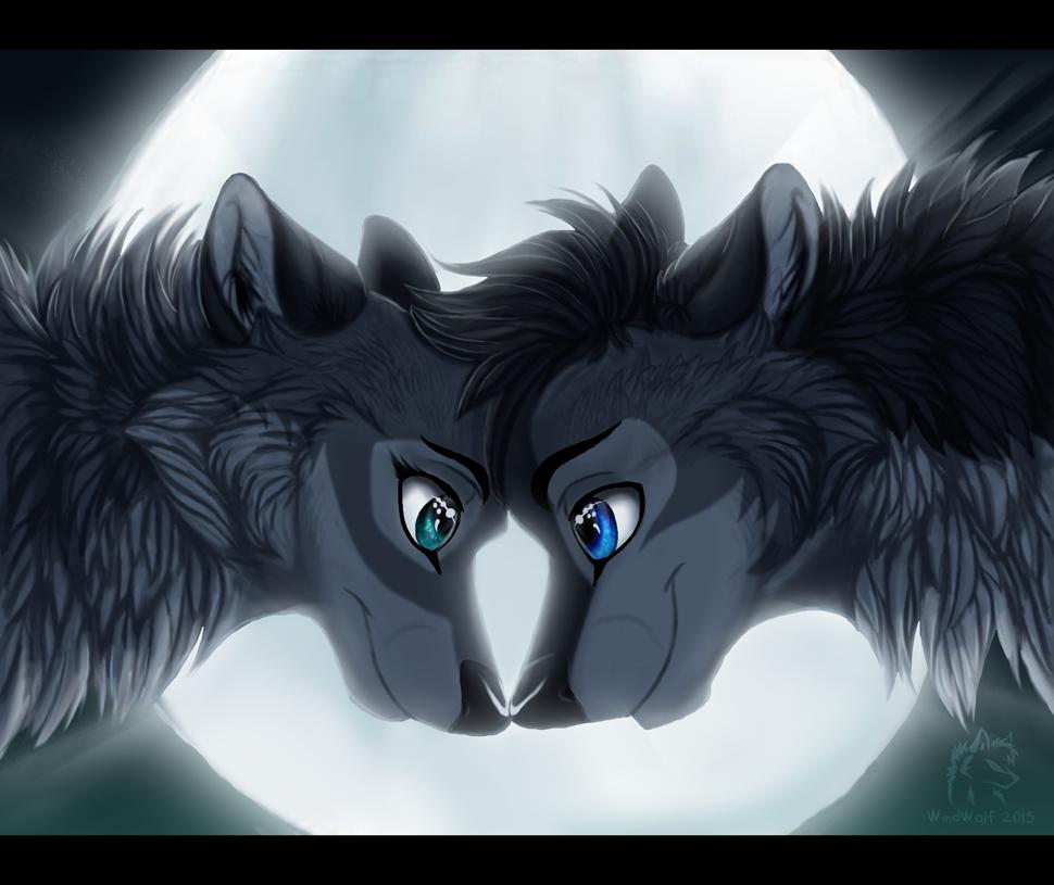 L o v e by windwo1f on deviantart - Anime wolves in love ...