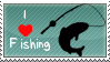 I Love to Fish Stamp by WindWo1f