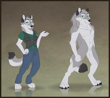 Anthro and Werewolf by WindWo1f