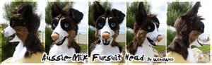 Aussie-Mix Fursuit Head