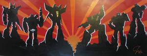random transformers canvas by Menschenhautkonfetti