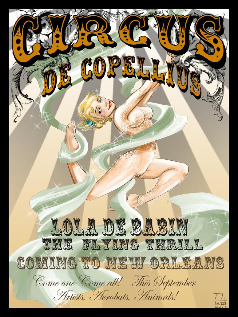 Circus Poster Lola De Babin by Menschenhautkonfetti