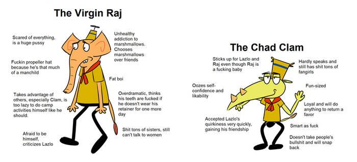 Virgin Raj vs Chad Clam