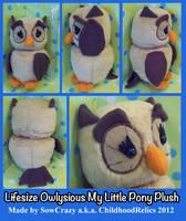 Handmade Lifesize MLP Owlysious Plush by SowCrazy