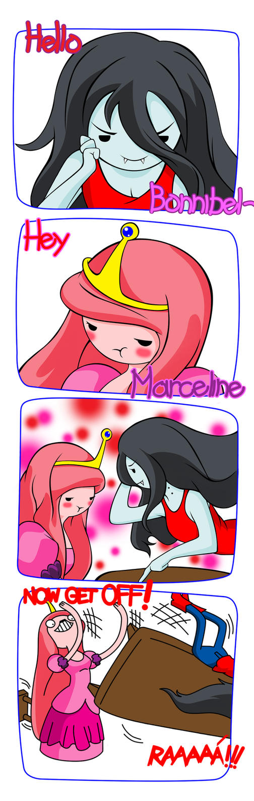 Marceline and Bonnibel by Mgx0
