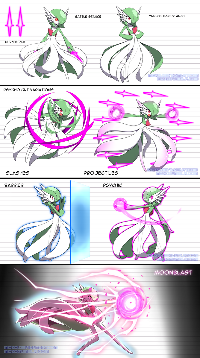 Yuno 39 s movesets by mgx0 on deviantart for Bano akira gardevoir