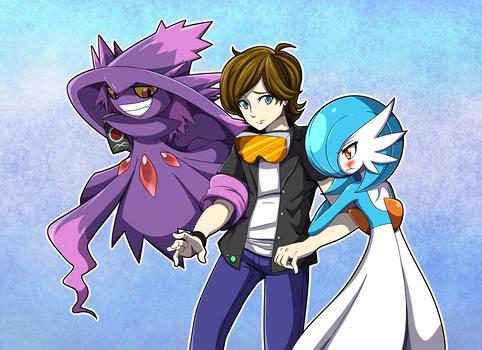 Commission: Pokemon Trainer with his Pokemon