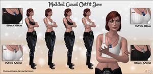 Mass Effect 3 - Modded Casual Outfit Jane for XPS