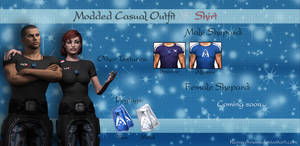 Mass Effect 3 - Modded Casual Outfit N7 Shirt V1.5