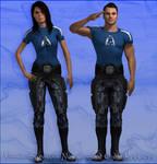 ME3 - Virmire Survivors Non Combat Outfit Replacer