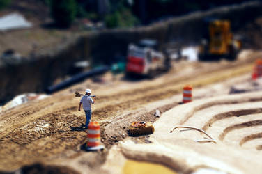 Construction Worker Tilt Shift