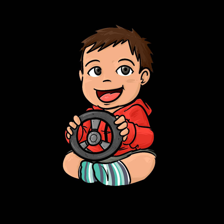 Mateo Car Sticker by h2roses