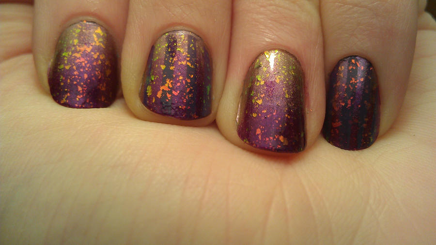 Purple New Years Nails by rabbithat8 on DeviantArt