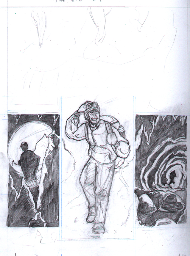 The End #5 - Story #2 - Cave Explorer (Pencils) by thescarletspider