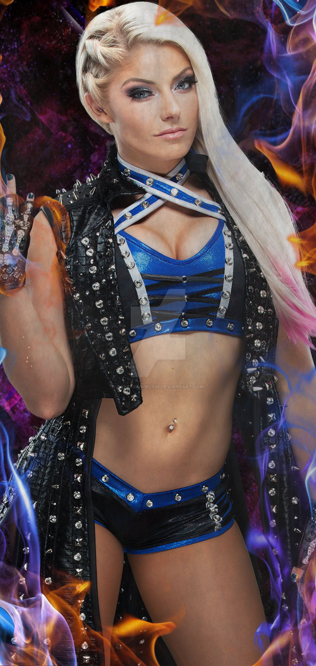 Alexa Bliss Samsung Galaxy S10 Wallpaper By