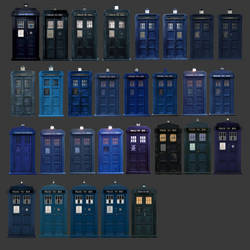 every TARDIS includeing police box by Fusionfall550