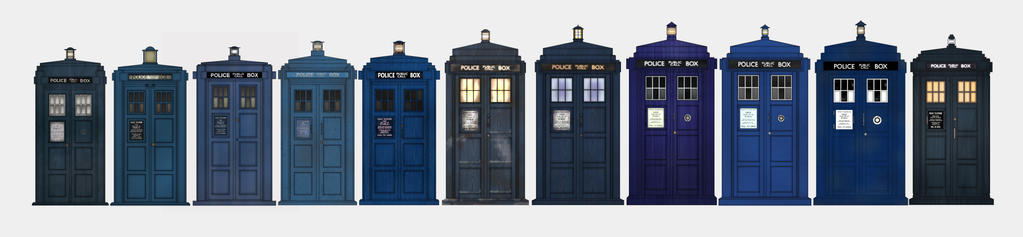 every TARDIS 1963 to present by Fusionfall550