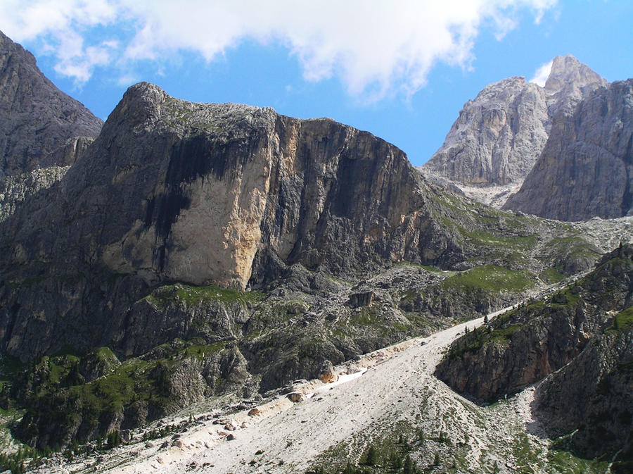 Landslide in Val Venegia by edelweiss26