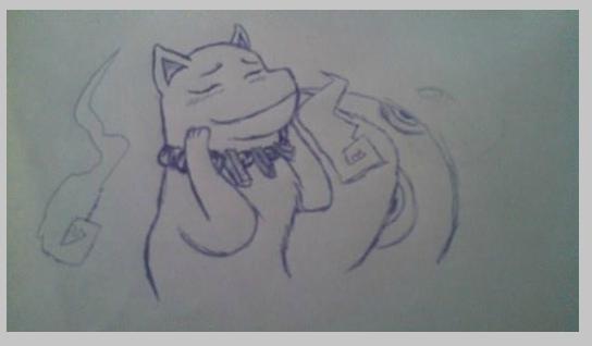dog thing....idk (10 min sketch 3) by ColdShower42