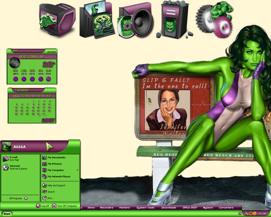 She-Hulk Desktop I by a666a